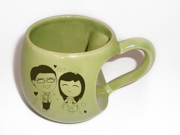 With all my heart unique mug,marco mario souvenir, wedding souvenirs, souvenir pernikahan