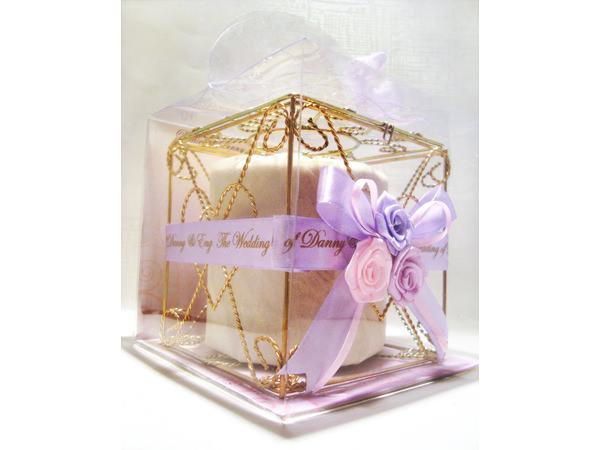 Violet Roses Gold Iron Tissue Box,marco mario souvenir, wedding souvenirs, souvenir pernikahan