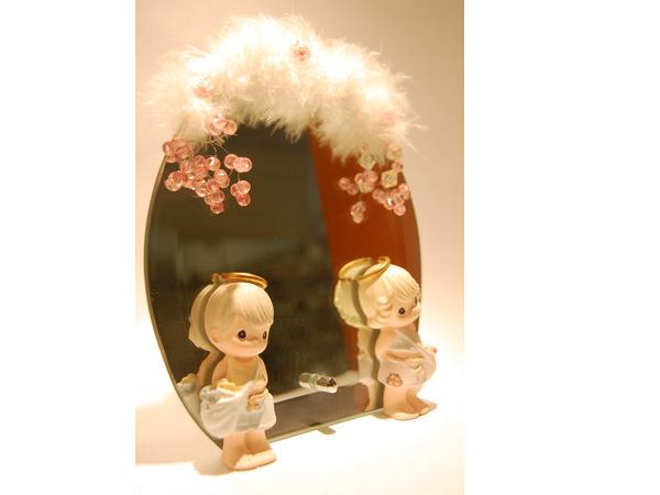 Little Angels Mirror,marco mario souvenir, wedding souvenirs, souvenir pernikahan surabaya indonesia, wedding favors, souvenir ideas, royal wedding souvenirs