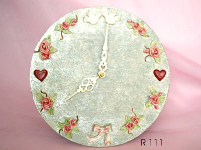 Roses and Doves Clock,marco mario souvenir, wedding souvenirs, souvenir pernikahan