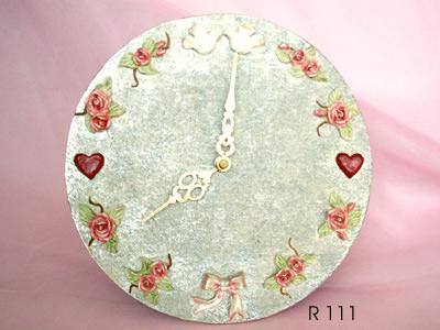 Roses and Doves Clock,marco mario souvenir, wedding souvenirs, souvenir pernikahan surabaya indonesia, wedding favors, souvenir ideas, royal wedding souvenirs
