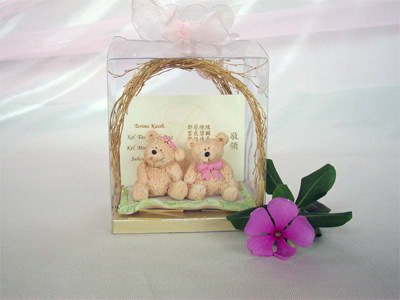 Creamy Bear Card Holder,marco mario souvenir, wedding souvenirs, souvenir pernikahan surabaya indonesia, wedding favors, souvenir ideas, royal wedding souvenirs