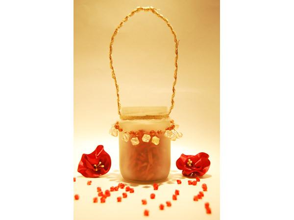 Red Potpourri in Frozen Glass,marco mario souvenir, wedding souvenirs, souvenir pernikahan surabaya indonesia, wedding favors, souvenir ideas, royal wedding souvenirs