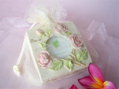 Baby Pink Rose Jewelry box and frame,marco mario souvenir, wedding souvenirs, souvenir pernikahan