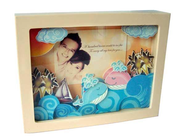 Ocean Love Papertole photo frame,marco mario souvenir, wedding souvenirs, souvenir pernikahan surabaya indonesia, wedding favors, souvenir ideas, royal wedding souvenirs