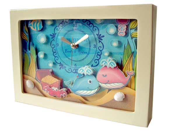 Ocean Love Papertole Clock,marco mario souvenir, wedding souvenirs, souvenir pernikahan surabaya indonesia, wedding favors, souvenir ideas, royal wedding souvenirs