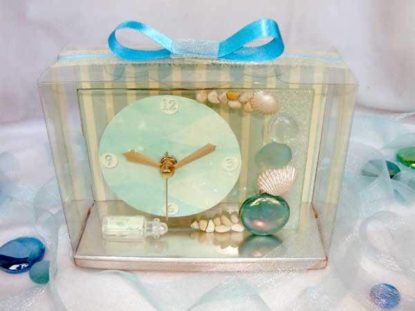 Oceanic Clear Glass Clock ,marco mario souvenir, wedding souvenirs, souvenir pernikahan