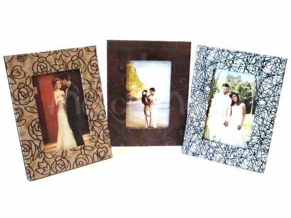 Leather 4R Photo Frame,marco mario souvenir, wedding souvenirs, souvenir pernikahan