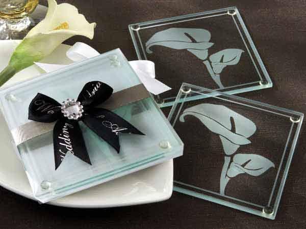 Calla Lilies frosted glass coasters,marco mario souvenir, wedding souvenirs, souvenir pernikahan surabaya indonesia, wedding favors, souvenir ideas, royal wedding souvenirs