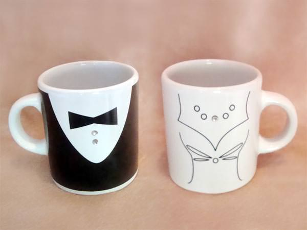 Tuxedo and Gown Mugs,marco mario souvenir, wedding souvenirs, souvenir pernikahan surabaya indonesia, wedding favors, souvenir ideas, royal wedding souvenirs