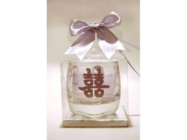 1 Colour Printed Small Clear Glass,marco mario souvenir, wedding souvenirs, souvenir pernikahan
