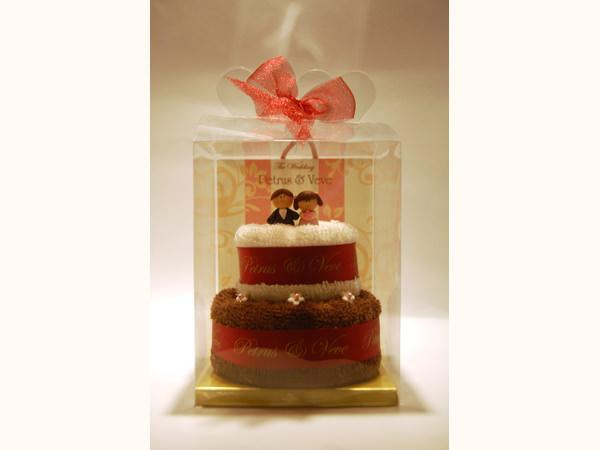 Towel Wedding Tart,marco mario souvenir, wedding souvenirs, souvenir pernikahan