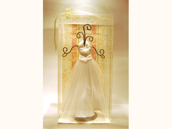 Halter-neck Wedding Gown Jewelry Holder ,marco mario souvenir, wedding souvenirs, souvenir pernikahan