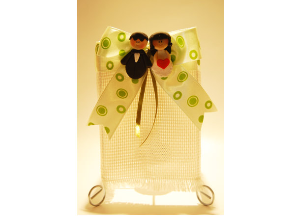 Sweet Couple Simple Table Lamp,marco mario souvenir, wedding souvenirs, souvenir pernikahan