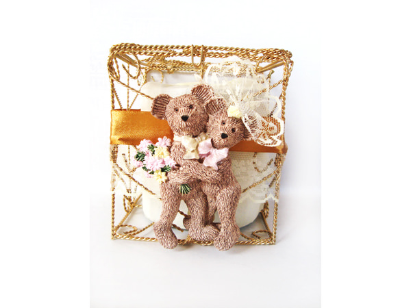 Classic Teddy Gold Iron TIssue Box,marco mario souvenir, wedding souvenirs, souvenir pernikahan surabaya indonesia, wedding favors, souvenir ideas, royal wedding souvenirs