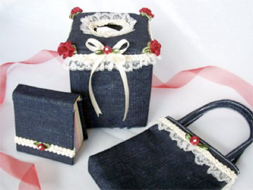Jeans Tissue Cover,marco mario souvenir, wedding souvenirs, souvenir pernikahan surabaya indonesia, wedding favors, souvenir ideas, royal wedding souvenirs