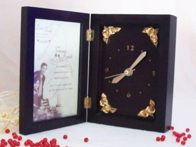 Traditional Wooden Clock and Frame,marco mario souvenir, wedding souvenirs, souvenir pernikahan