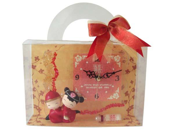 Glittery Oriental Stained Glass Clock ,marco mario souvenir, wedding souvenirs, souvenir pernikahan