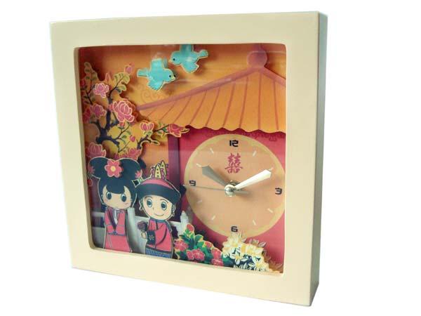 Oriental Papertole Clock,marco mario souvenir, wedding souvenirs, souvenir pernikahan surabaya indonesia, wedding favors, souvenir ideas, royal wedding souvenirs