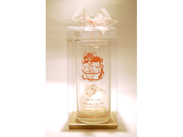 Chinese Couple Clear Glass,marco mario souvenir, wedding souvenirs, souvenir pernikahan surabaya indonesia, wedding favors, souvenir ideas, royal wedding souvenirs