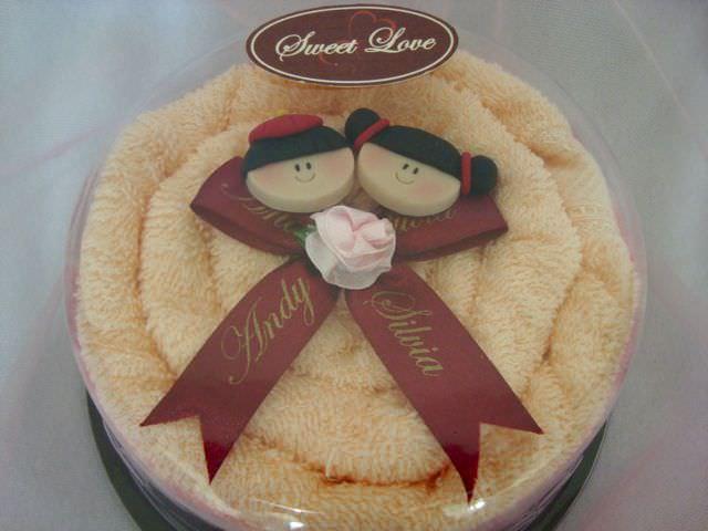 Oriental Towel Tart,marco mario souvenir, wedding souvenirs, souvenir pernikahan surabaya indonesia, wedding favors, souvenir ideas, royal wedding souvenirs