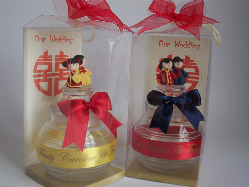 Oriental Clay Doll Glass,marco mario souvenir, wedding souvenirs, souvenir pernikahan