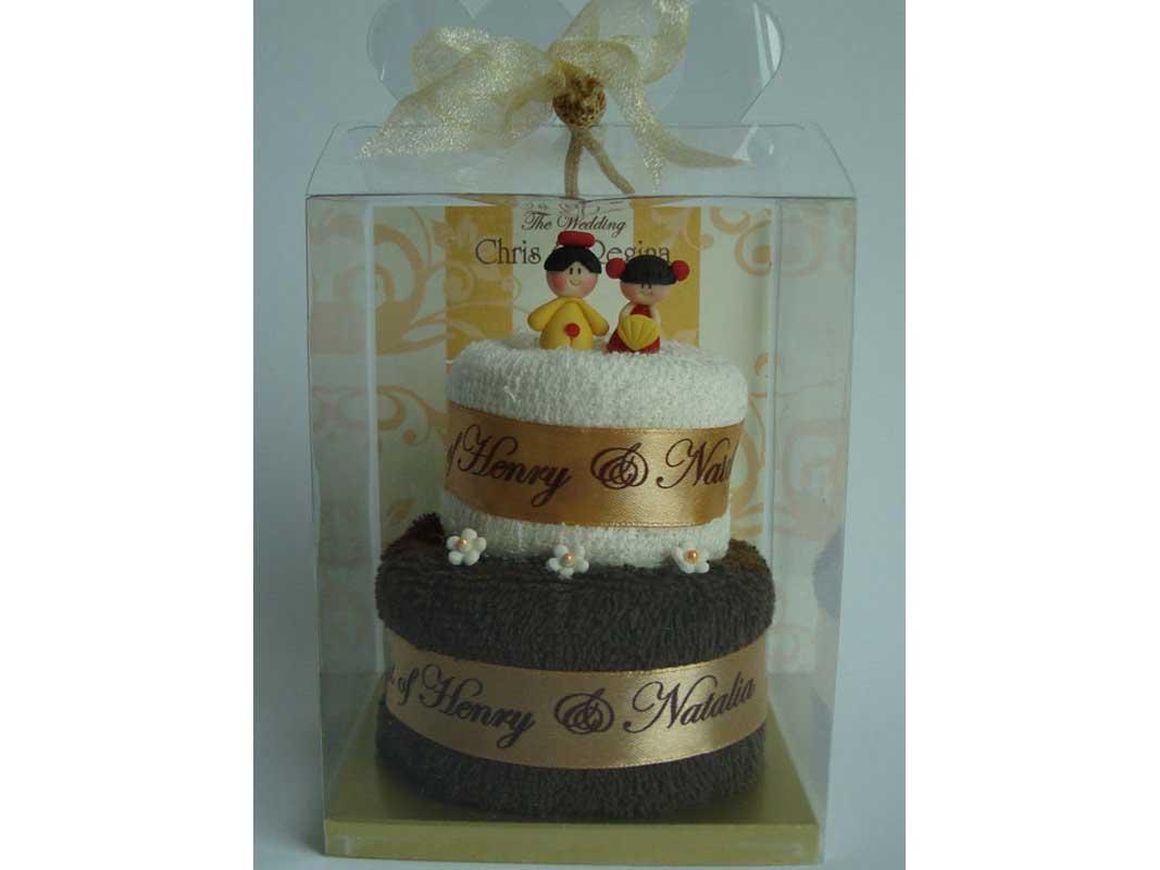 Oriental Towel Cake,marco mario souvenir, wedding souvenirs, souvenir pernikahan surabaya indonesia, wedding favors, souvenir ideas, royal wedding souvenirs