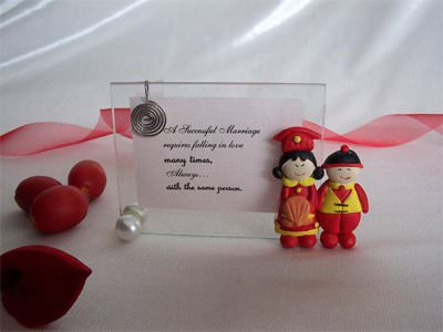 Cute Chinese Couple 2R Photo Frame,marco mario souvenir, wedding souvenirs, souvenir pernikahan