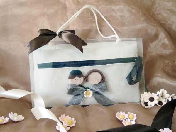 Romantic Couple Cosmetic Pouch,,marco mario souvenir, wedding souvenirs, souvenir pernikahan