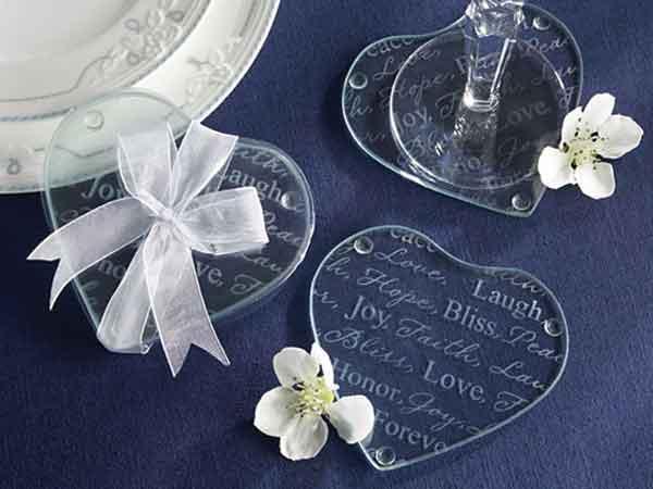 Clearly in Love Glass Coasters,,marco mario souvenir, wedding souvenirs, souvenir pernikahan surabaya indonesia, wedding favors, souvenir ideas, royal wedding souvenirs