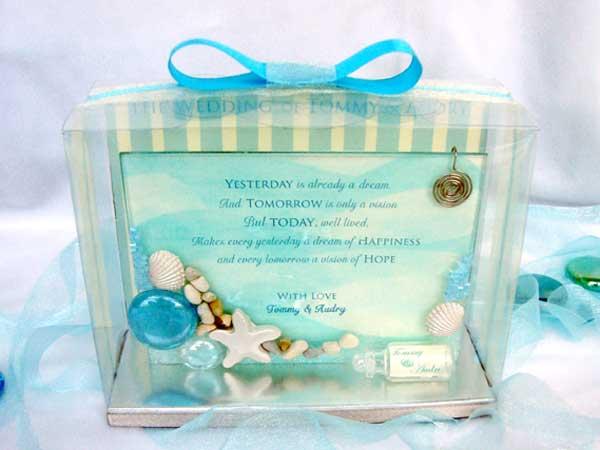 Beach 3R photo frame,,marco mario souvenir, wedding souvenirs, souvenir pernikahan