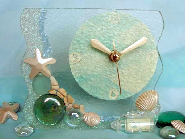 Oceanic Stained Glass Clock,,marco mario souvenir, wedding souvenirs, souvenir pernikahan surabaya indonesia, wedding favors, souvenir ideas, royal wedding souvenirs