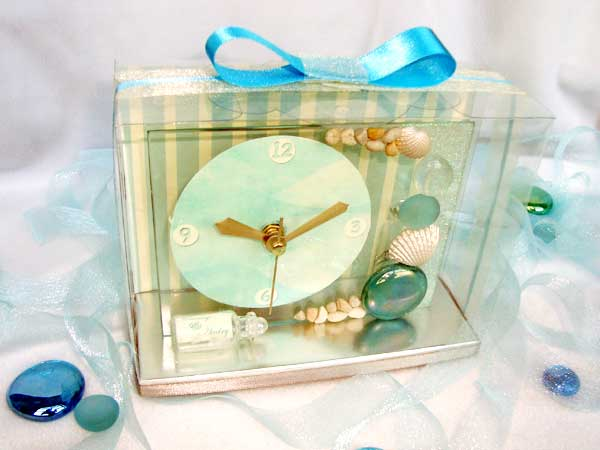 Oceanic Clear Glass Clock,,marco mario souvenir, wedding souvenirs, souvenir pernikahan surabaya indonesia, wedding favors, souvenir ideas, royal wedding souvenirs