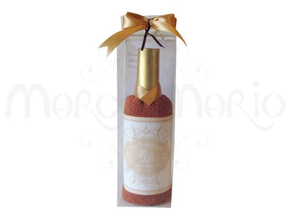 Wine Maroon Bottle Towel,marco mario souvenir, wedding souvenirs, souvenir pernikahan