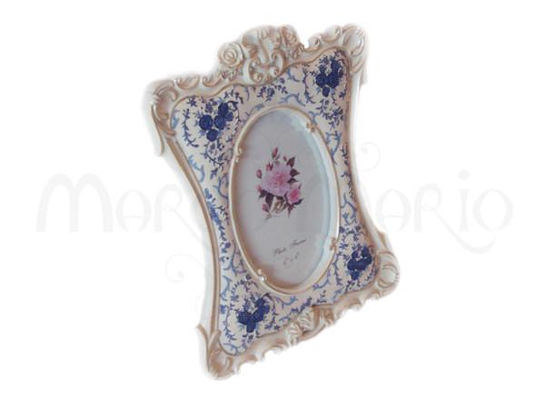 Classic Frame with Blue ornament,marco mario souvenir, wedding souvenirs, souvenir pernikahan