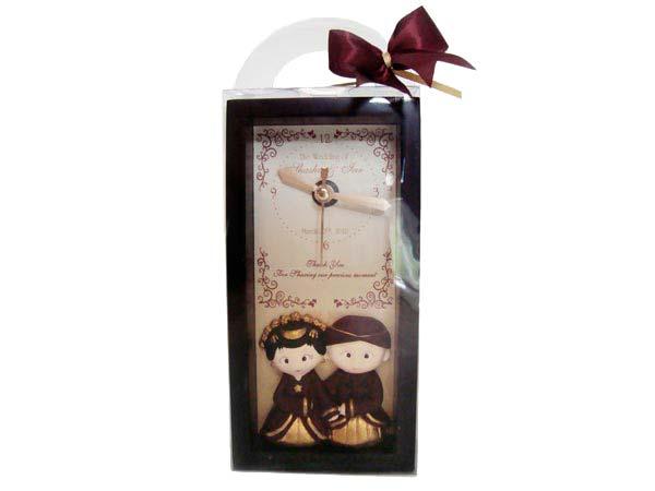 Traditional Wooden Clock,marco mario souvenir, wedding souvenirs, souvenir pernikahan