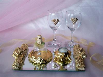 Gold Set,marco mario souvenir, wedding souvenirs, souvenir pernikahan
