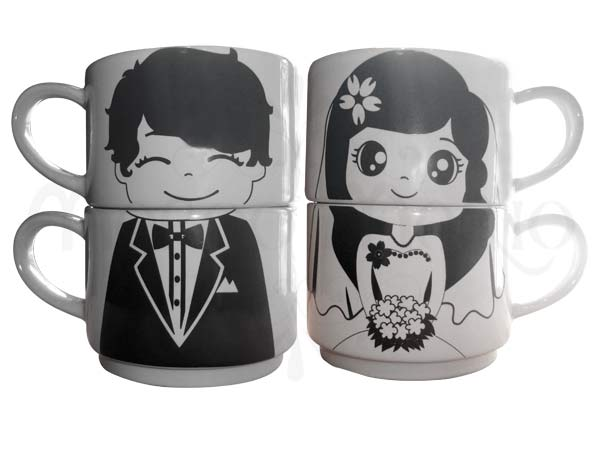 wedding couple mug,marco mario souvenir, wedding souvenirs, souvenir pernikahan