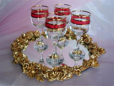 Gold Roses Tray,marco mario souvenir, wedding souvenirs, souvenir pernikahan