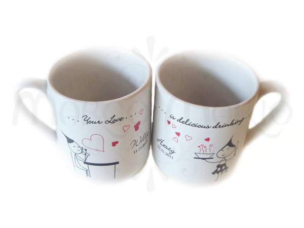 Delicious Love Mug,marco mario souvenir, wedding souvenirs, souvenir pernikahan surabaya indonesia, wedding favors, souvenir ideas, royal wedding souvenirs