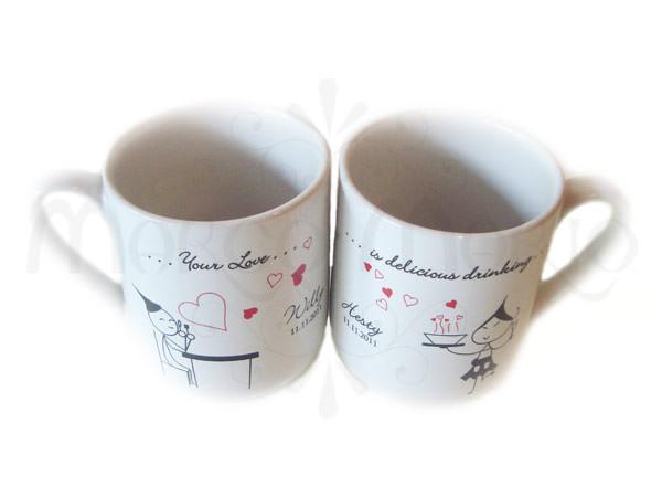 Delicious Love Mug,marco mario souvenir, wedding souvenirs, souvenir pernikahan surabaya indonesia, wedding favors, souvenir ideas, royal wedding souvenirs