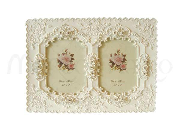 White Classic Twin Frame,marco mario souvenir, wedding souvenirs, souvenir pernikahan surabaya indonesia, wedding favors, souvenir ideas, royal wedding souvenirs