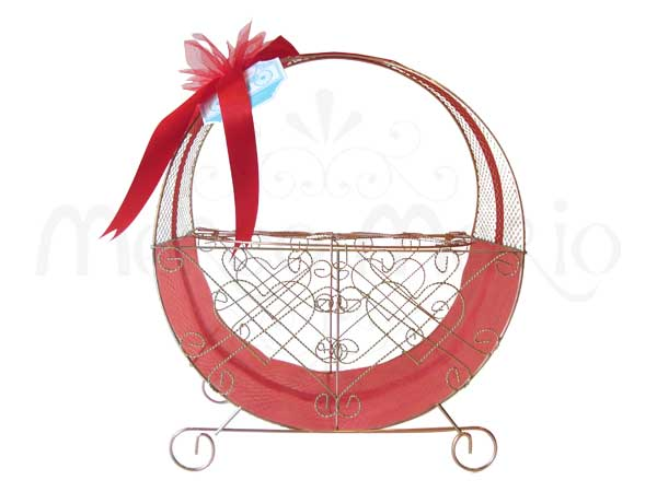 Engagement Round Basket,marco mario souvenir, wedding souvenirs, souvenir pernikahan