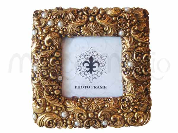 Gold Sparkling Vintage Frame,marco mario souvenir, wedding souvenirs, souvenir pernikahan