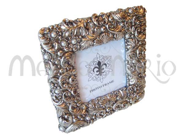 Silver Sparkling Vintage Frame,marco mario souvenir, wedding souvenirs, souvenir pernikahan