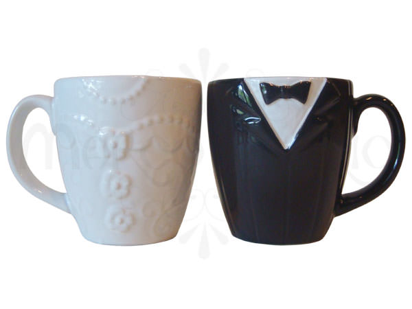 Tuxedo and Gown Mug,marco mario souvenir, wedding souvenirs, souvenir pernikahan surabaya indonesia, wedding favors, souvenir ideas, royal wedding souvenirs