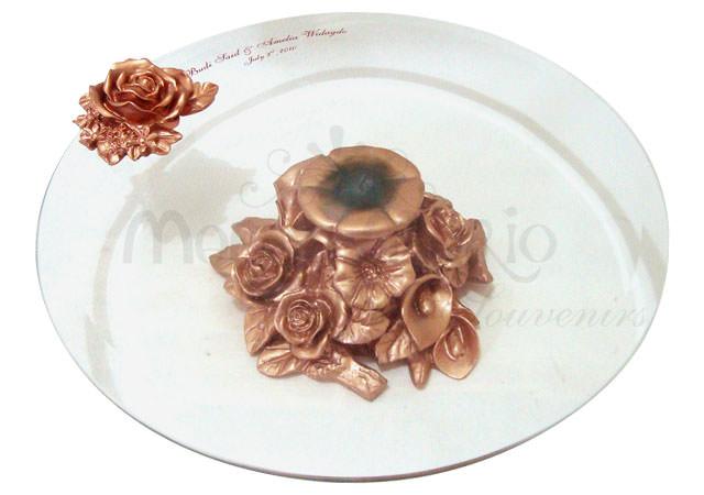 Ornamental Gold Tray,marco mario souvenir, wedding souvenirs, souvenir pernikahan