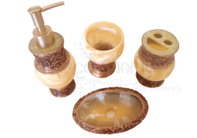 Marble Gold Bathroom Set,marco mario souvenir, wedding souvenirs, souvenir pernikahan