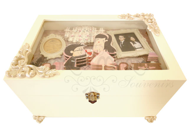 3D Engagement Box,marco mario souvenir, wedding souvenirs, souvenir pernikahan