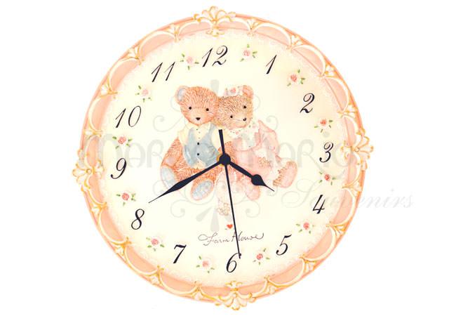 Bears Rounded Wall Clock,marco mario souvenir, wedding souvenirs, souvenir pernikahan